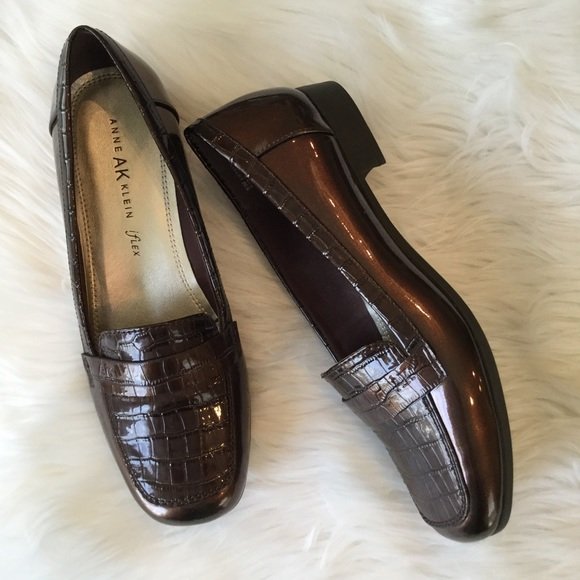 a7d639d63fd Anne Klein Shoes - Ann Klein Iflex Patent   Croc Loafers